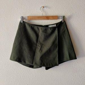 XOXO Gray Wrap Mini Skort Skirt w/ Shorts
